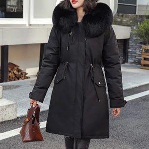 Cotton Liner Warm Coat And Waterproof Jacket Women